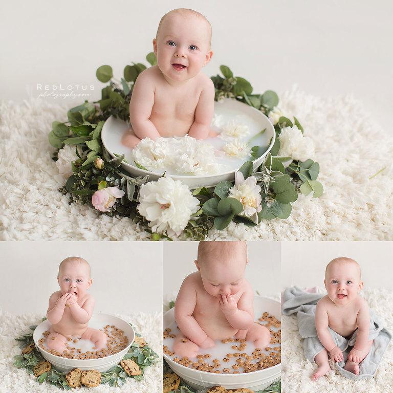 milk bath baby babies studio Pittsburgh photographer